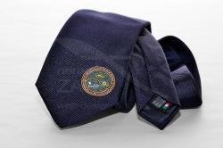 Cravatta ricamata in seta by Cravattificio Pegaso per Internazionali di Tennis Cortina