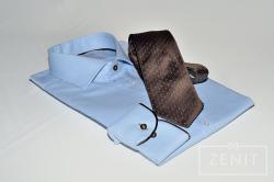 Camicia artigianale in cotone abbinata a cravatta by Pegaso