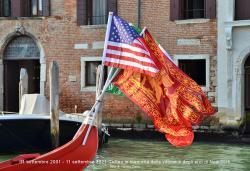 Corteo acqueo in memoria delle vittime ed eroi dell'11 settembre 2001