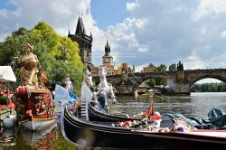 Navalis 2018 - Barche tradizionali veneziane sulla Moldova - Praga