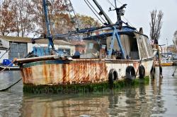 Motopesca abbandonato in Canal Salso (11/2020)